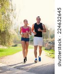 fitness  sport  friendship and... | Shutterstock . vector #224632645