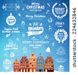 christmas decoration set of... | Shutterstock .eps vector #224632846