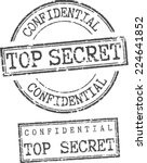 grunge stamps 'confidential top ... | Shutterstock .eps vector #224641852