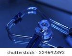 stethoscope close up | Shutterstock . vector #224642392