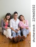 group portrait of 3 happy asian ... | Shutterstock . vector #224660332