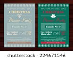vector set of christmas party... | Shutterstock .eps vector #224671546