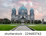 Stock photo berlin cathedral at sunrise german berliner dom on museum island berlin germany 224683762
