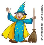 illustration of a witch holding ... | Shutterstock .eps vector #224688802
