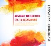 vector watercolor ink spot. wet ... | Shutterstock .eps vector #224692315