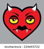 evil heart vampire cartoon...   Shutterstock .eps vector #224693722