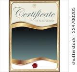 certificate template | Shutterstock .eps vector #224700205
