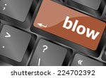 blow button on computer pc... | Shutterstock . vector #224702392