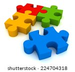 puzzle | Shutterstock . vector #224704318
