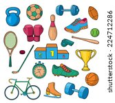 vector sport equipment | Shutterstock .eps vector #224712286