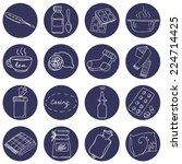 help for colds set. set of... | Shutterstock .eps vector #224714425