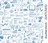 vector business doodles  ...   Shutterstock .eps vector #224715652