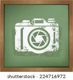 camera symbol on background... | Shutterstock .eps vector #224716972