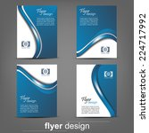 set of business flyer template  ... | Shutterstock .eps vector #224717992
