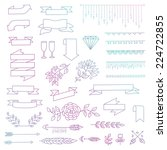 set of cute vector ribbons ... | Shutterstock .eps vector #224722855