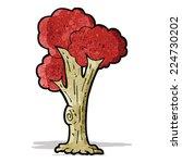 cartoon tree in fall   Shutterstock .eps vector #224730202