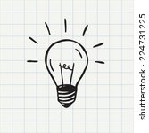 light bulb icon  idea symbol ... | Shutterstock .eps vector #224731225