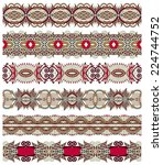 seamless ethnic floral paisley... | Shutterstock . vector #224744752