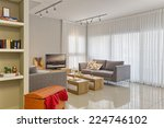luxury modern living room | Shutterstock . vector #224746102