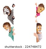 Little Kids Face Painted As - Fine Art prints