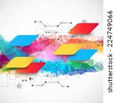 abstract multid colored... | Shutterstock .eps vector #224749066