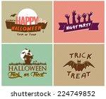 halloween cards | Shutterstock .eps vector #224749852