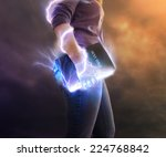 a woman holds her bible with...   Shutterstock . vector #224768842