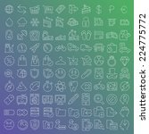 100 vector line icons set for... | Shutterstock .eps vector #224775772
