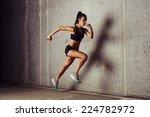slim attractive sportswoman... | Shutterstock . vector #224782972