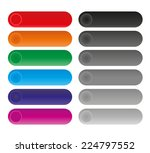 set of rounded colorful buttons | Shutterstock .eps vector #224797552