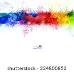 bright watercolor strip.... | Shutterstock .eps vector #224800852