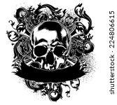 decorative art label with skull ... | Shutterstock .eps vector #224806615