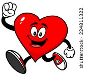 heart running | Shutterstock .eps vector #224811322