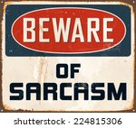 vintage metal sign   beware of... | Shutterstock .eps vector #224815306