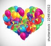 illustration for birthday or... | Shutterstock .eps vector #224815312