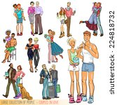 large collection of people  ... | Shutterstock .eps vector #224818732