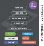 flat designed web buttons