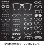 set of sunglasses and glasses.... | Shutterstock .eps vector #224821678