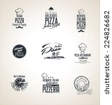 pizza labels | Shutterstock .eps vector #224826682