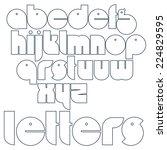 round outline letters....   Shutterstock .eps vector #224829595