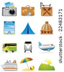 vacation and travel icons | Shutterstock .eps vector #22483171