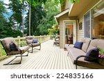 wooden walkout deck with... | Shutterstock . vector #224835166