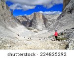 large valley covered with scree ... | Shutterstock . vector #224835292