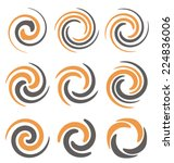set of spiral and swirls logo... | Shutterstock .eps vector #224836006