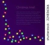 christmas template for... | Shutterstock .eps vector #224836366