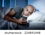young cell phone addict man... | Shutterstock . vector #224841448