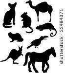 set of animal silhouettes   Shutterstock .eps vector #22484371