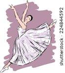 dancing ballerina | Shutterstock .eps vector #224844592