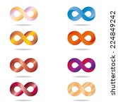 a set of colored infinity... | Shutterstock .eps vector #224849242