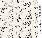 vector seamless pattern. floral ... | Shutterstock .eps vector #224858428